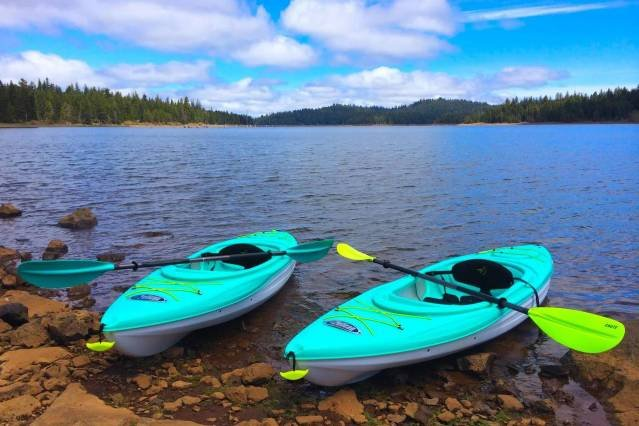 Enjoy beautiful Hyatt Lake with our Kayak's (Available for an additional $20 per day)