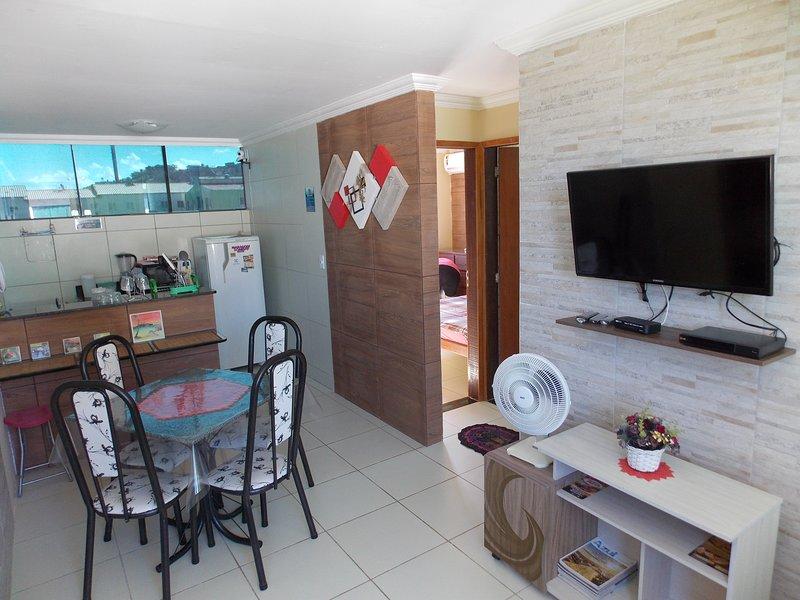 Lindo Flat em Maragogi, AL, 2 quartos com ar e vista para o mar!, casa vacanza a Maragogi