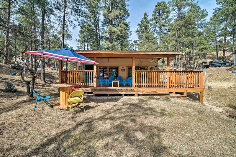 Outdoor enthusiasts will love this woodland area.
