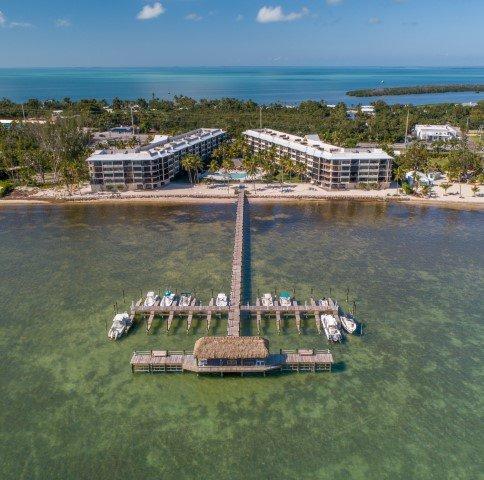 Vista aerea di Beacon Reef