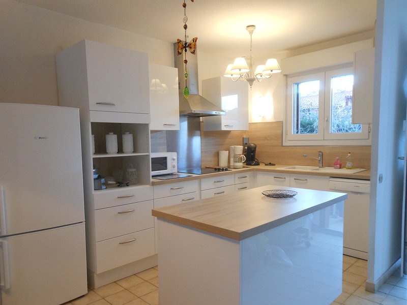 the new built-in kitchen with its new appliances