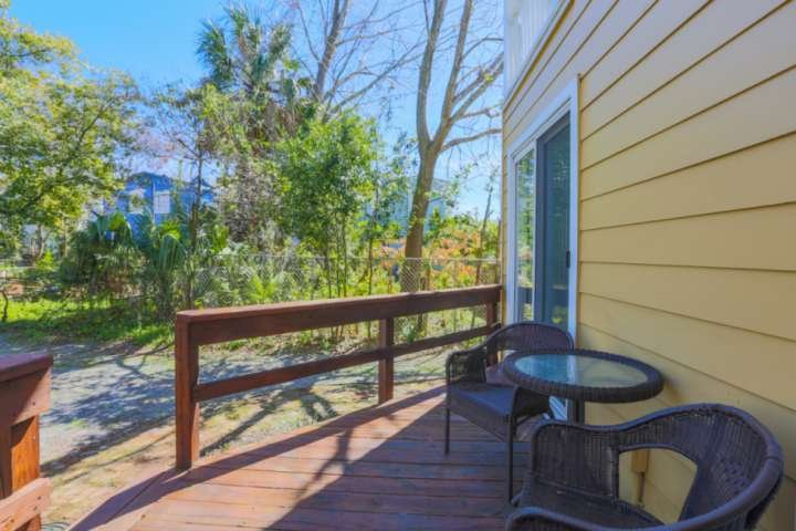 Unit B guests have a private entrance on the back half of the home on the backyard deck.