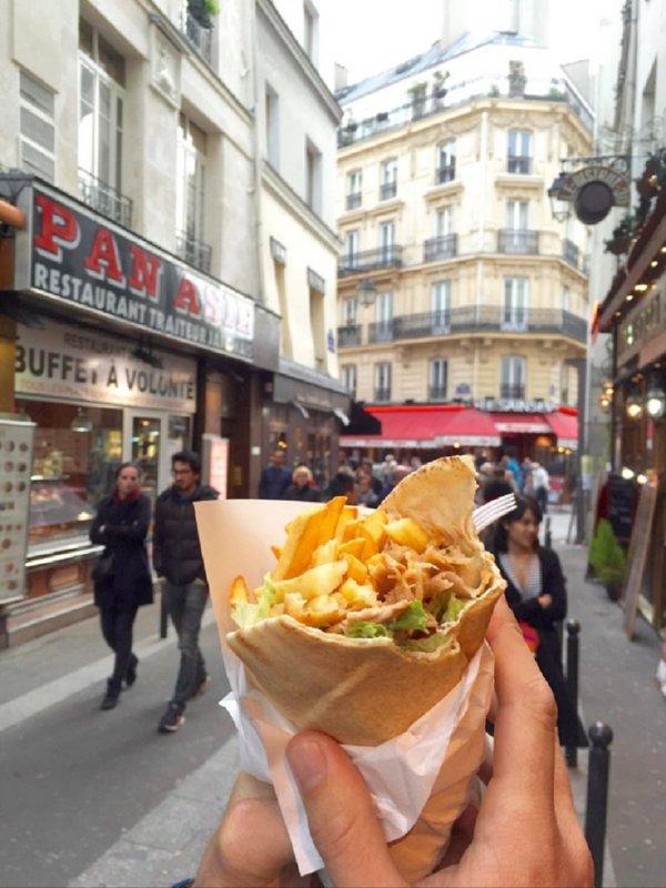 The Famous Falafel on Rue de Rosiers