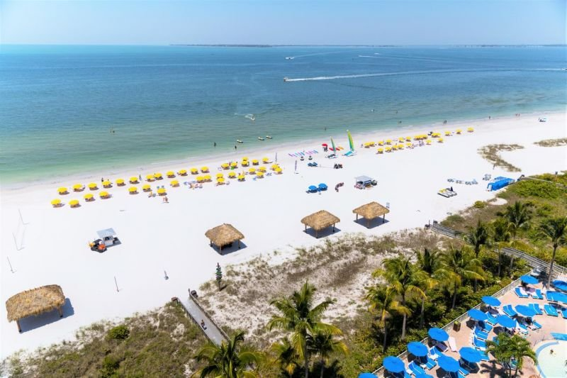 Our gulf front resort is located right on the beach