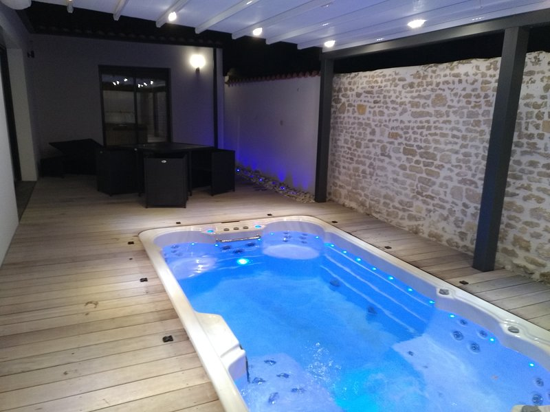 Location de charme avec spa de nage et sauna privatif, Ferienwohnung in Saint Vivien