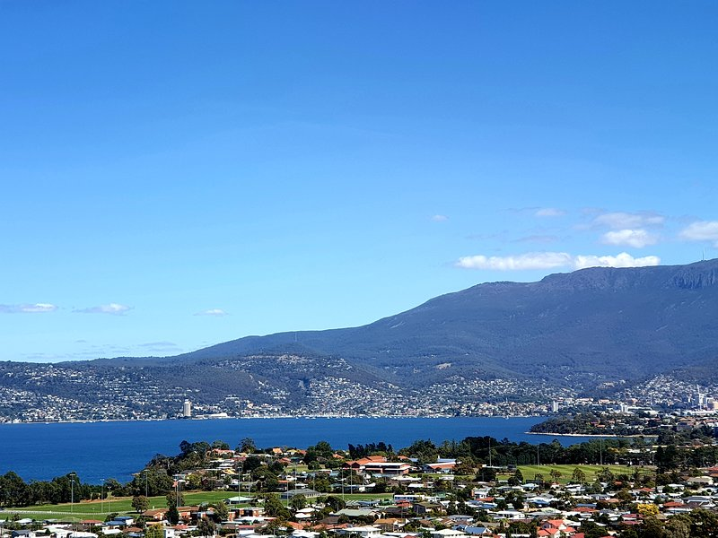 Wake up to views like this when you stay at Charbella's in Hobart.