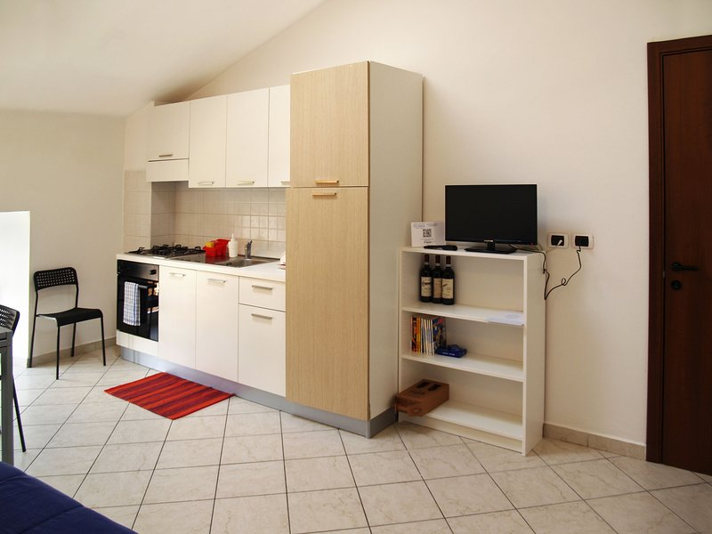 Holiday Apartment Fusina - Dogliani - Living room with kitchenette