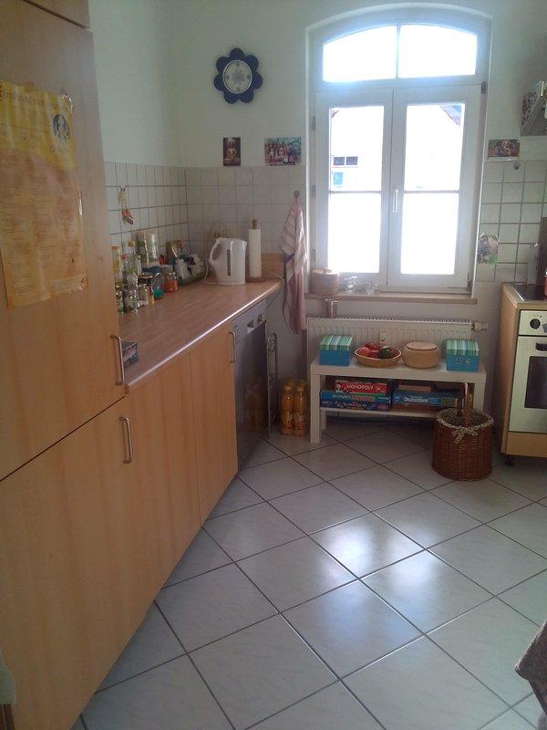 cucina soleggiata