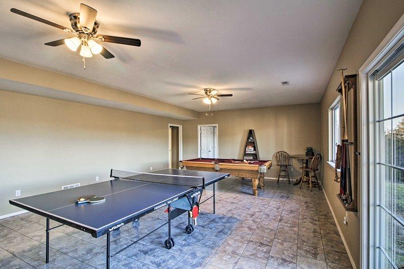 La casa adosada de alquiler de vacaciones tiene una sala de juegos!