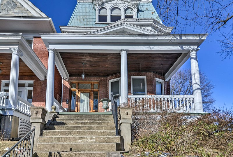 This historic house was lovingly restored with all of the comforts of home.