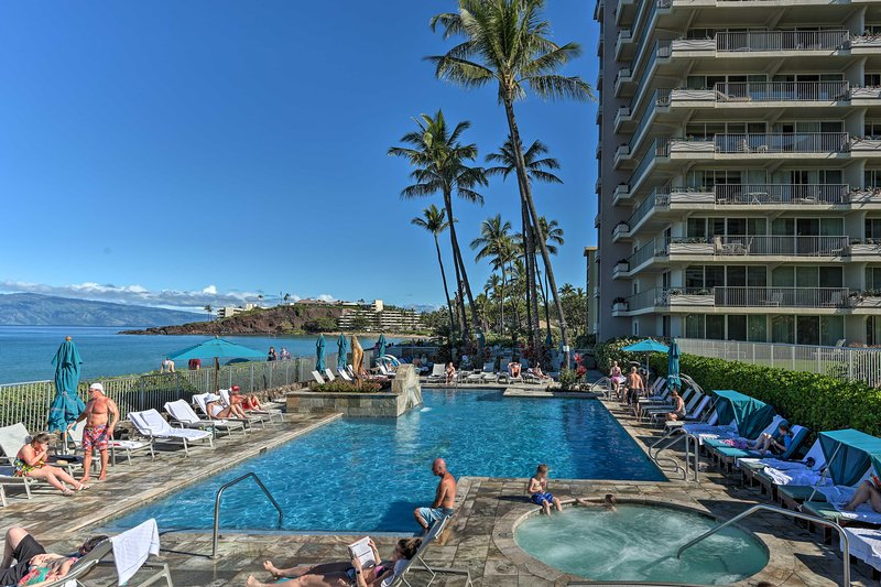 Soak up the sun by the community pool and hot tub and enjoy ocean views.