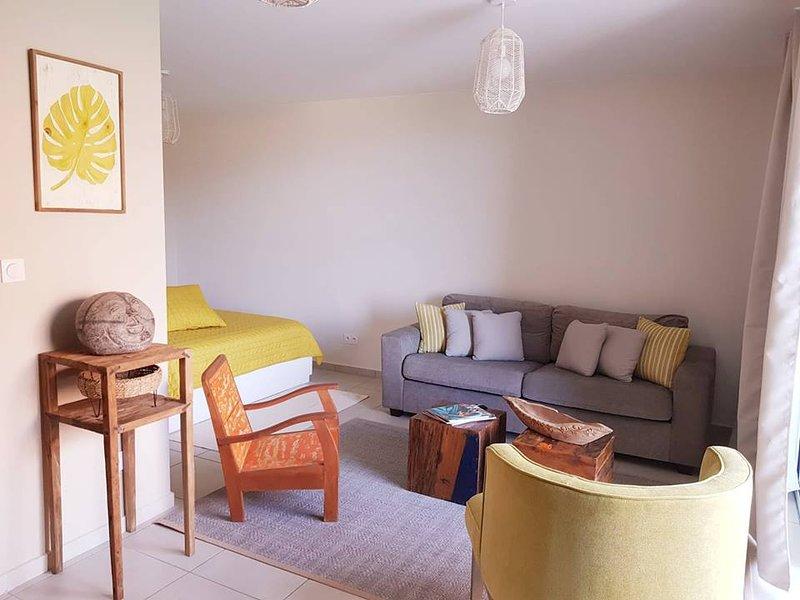 Grand Studio neuf avec terrasse et jardin et équipé, location de vacances à Faa'a