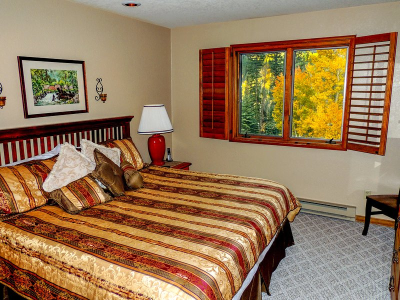 Master bedroom with awesome view