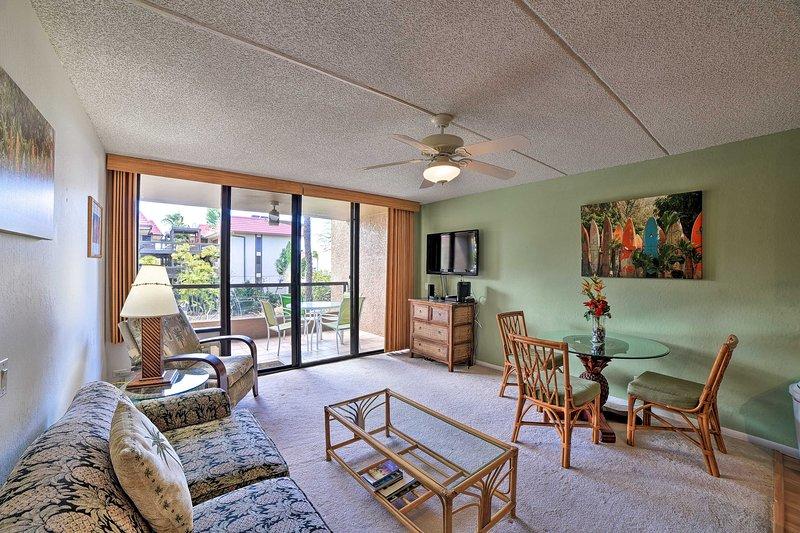 Book a trip to this cozy 1-bedroom, 2-bathroom vacation rental condo for 4.