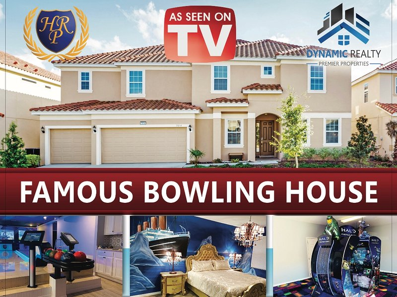 AS SEEN ON TV  VACATION, HALO,PROJECTORS, BOWLING, ARCADE, HOLLYWOOD THEMED HOME, location de vacances à Davenport