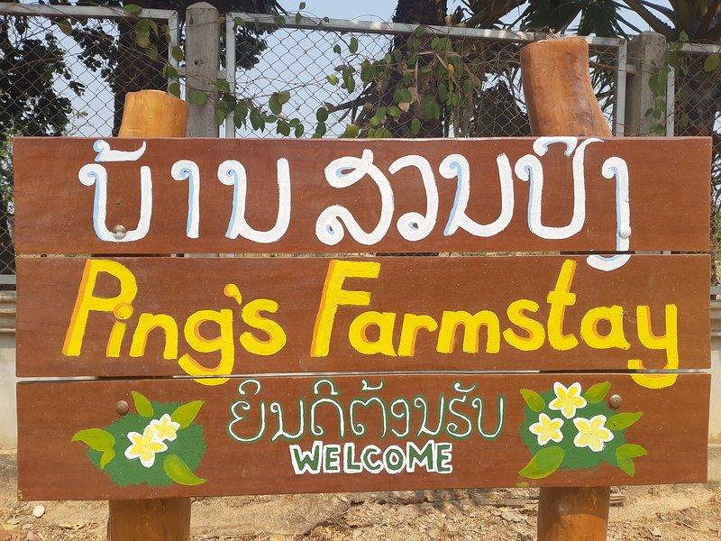 Ping's Farmstay board
