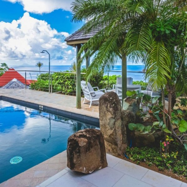 Villa Grain De Folie | Ocean View - Located in Tropical Colombier with Private, vacation rental in Anse des Flamands