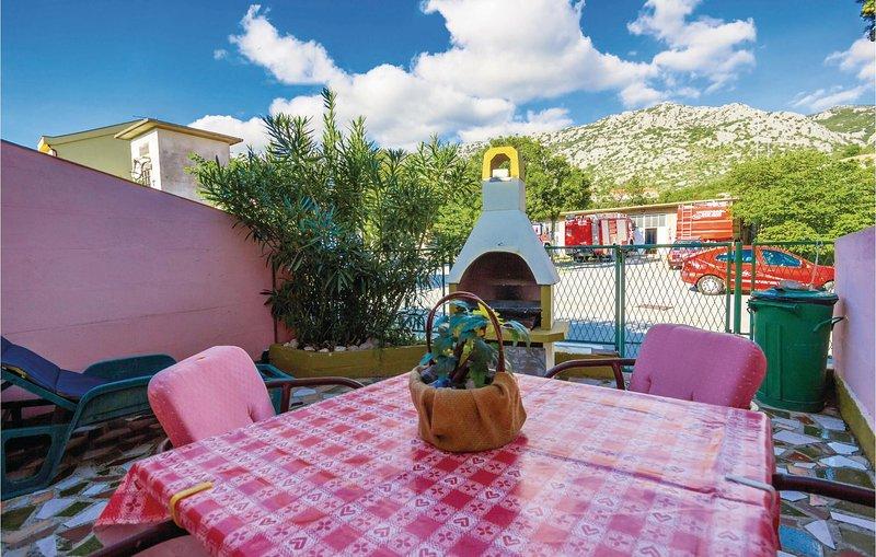 Amazing home in Karlobag with 1 Bedrooms (CKV414), casa vacanza a Baske Ostarije