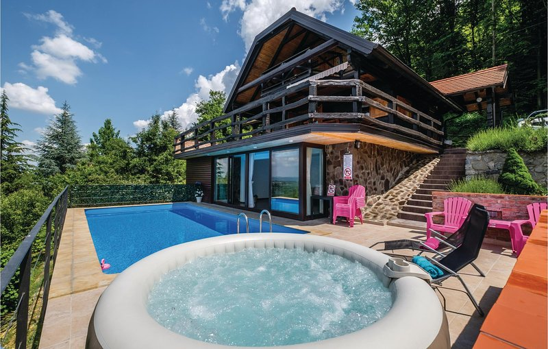Nice home in Samobor with Jacuzzi, WiFi and Outdoor swimming pool (CCC002), vacation rental in Zagreb County