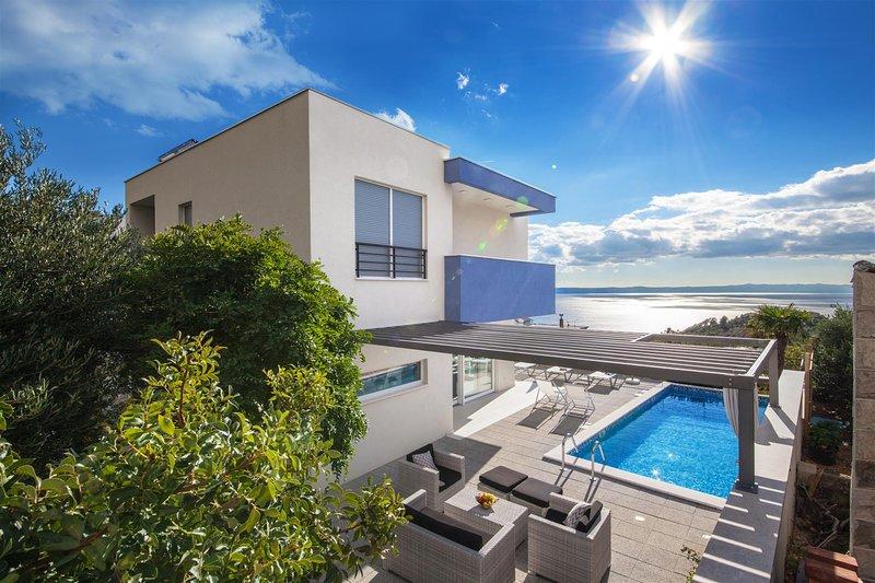 Luxury Villa Blue Silk with Heated Pool, vacation rental in Veliko Brdo