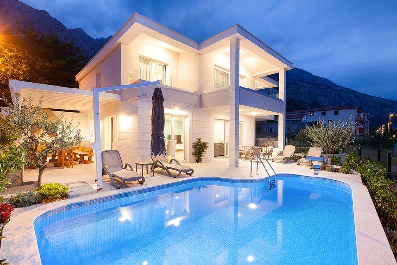Luxury Villa Moonlight with Heated Pool, vacation rental in Veliko Brdo