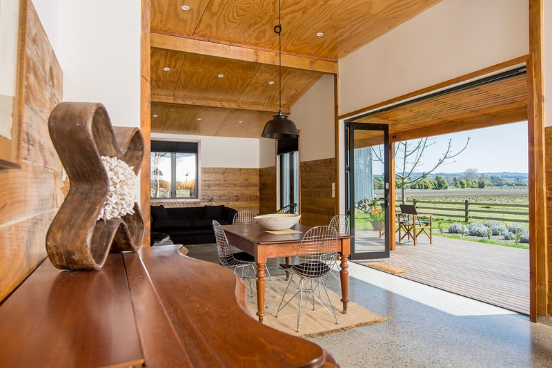 Open  plan living areas open onto expansive deck