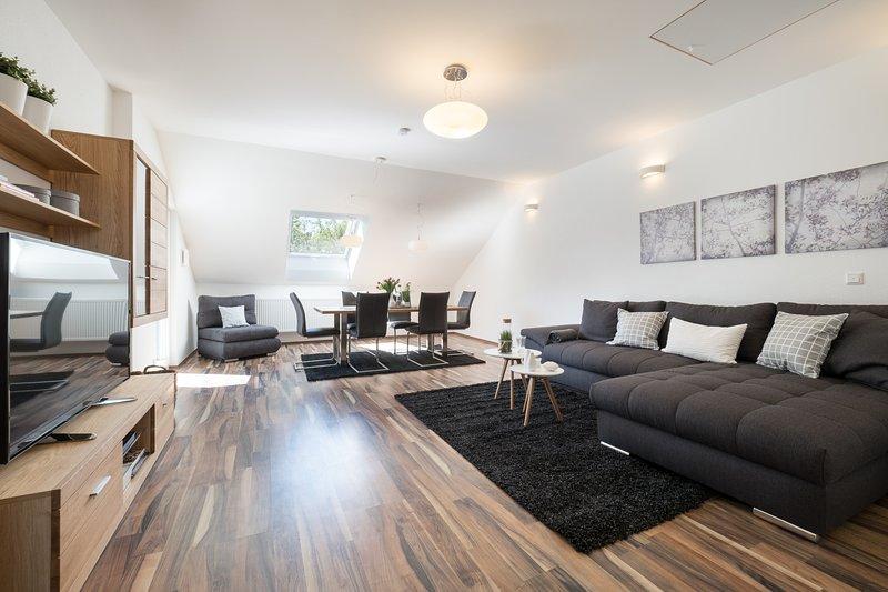 Miralior Apartment Mainz 5* DTV (ZDF) 3 Zim. 110qm, alquiler vacacional en Eltville am Rhein