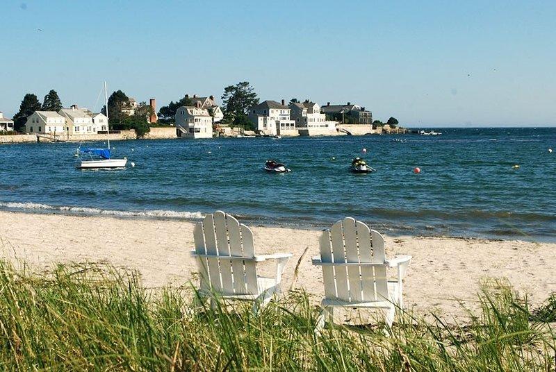 Enjoy the private beach