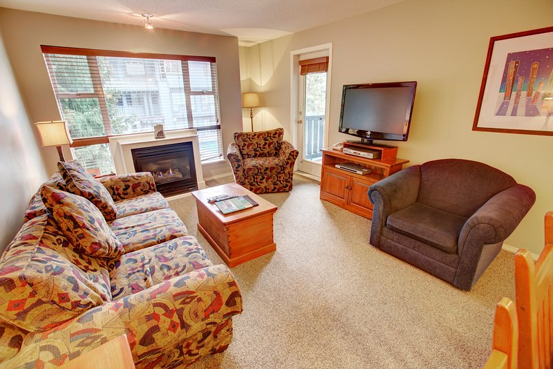 Photo of Ski-In 1 Bedroom Condo with Private Balcony + Fireplace | Pool Access