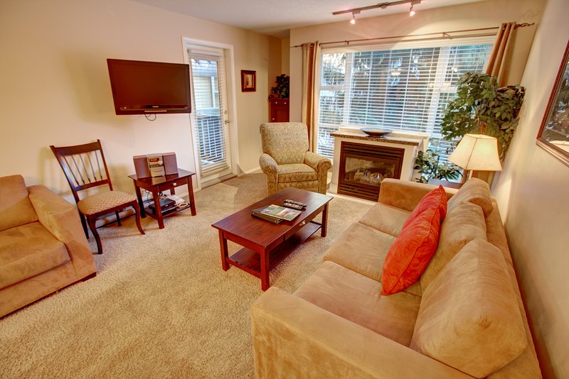 Comfy and sweet living room, ready for you to sit back and enjoy your downtime in Whistler.