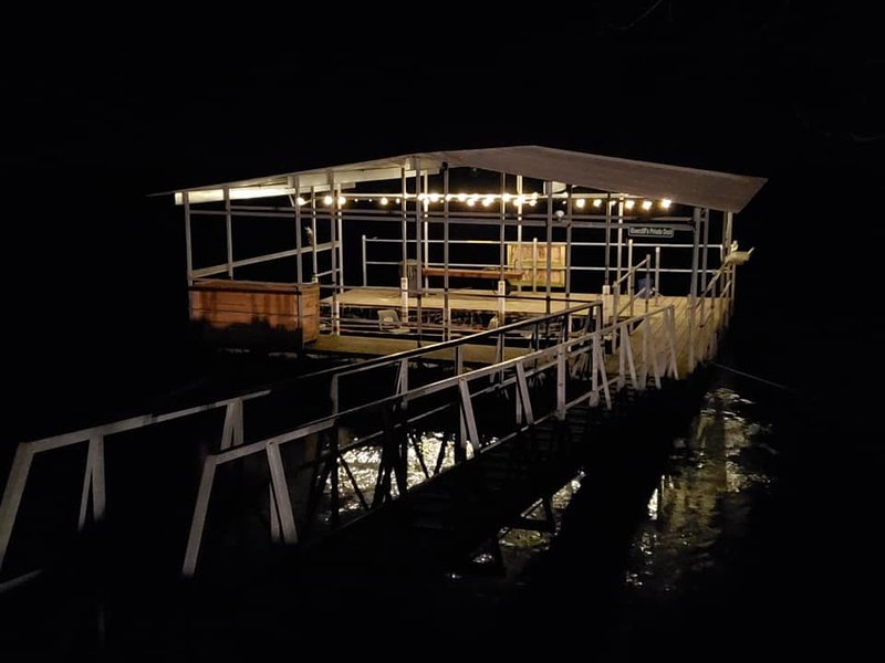 Rivercliff's Lighted Private Dock with electrical and rental boat