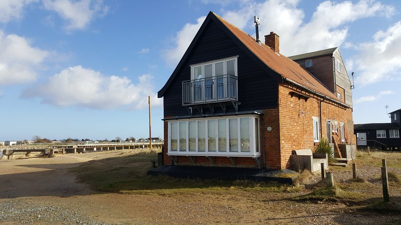 The Boat House enjoys one of the most commanding positions on the River Blyth at Walberswick