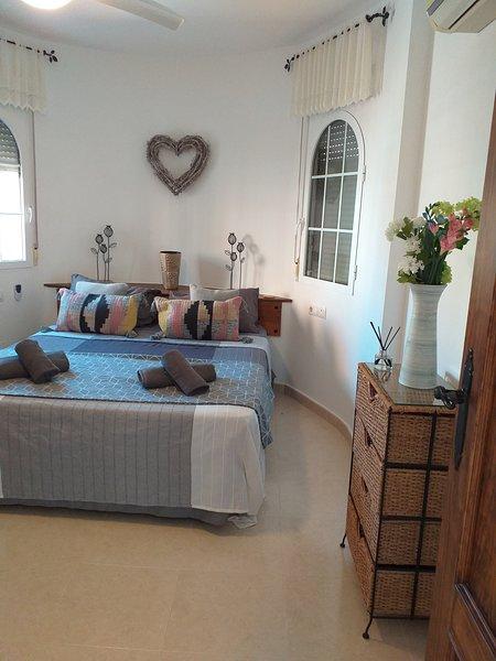 Beautiful Kingsize bed and stylish bedding