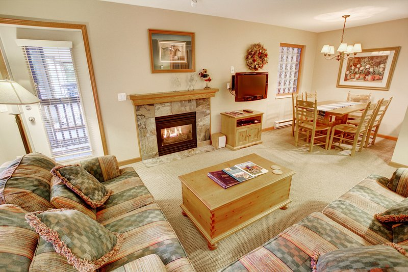 Curl up by the fire place.