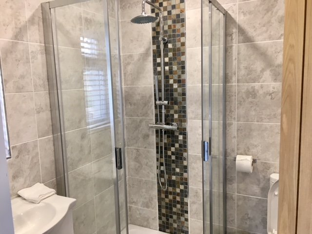 Bathroom, separate walk in shower and bath