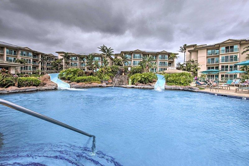 Escápese a la costa de coco de Kauai en este condominio de alquiler de vacaciones en Kapa'a.