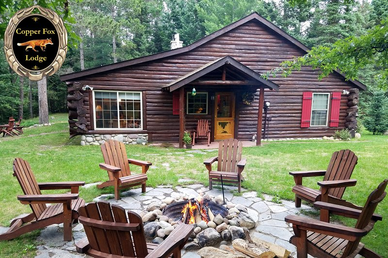 Enchanting and Romantic Copper Fox Lodge on the banks of the AuSable River