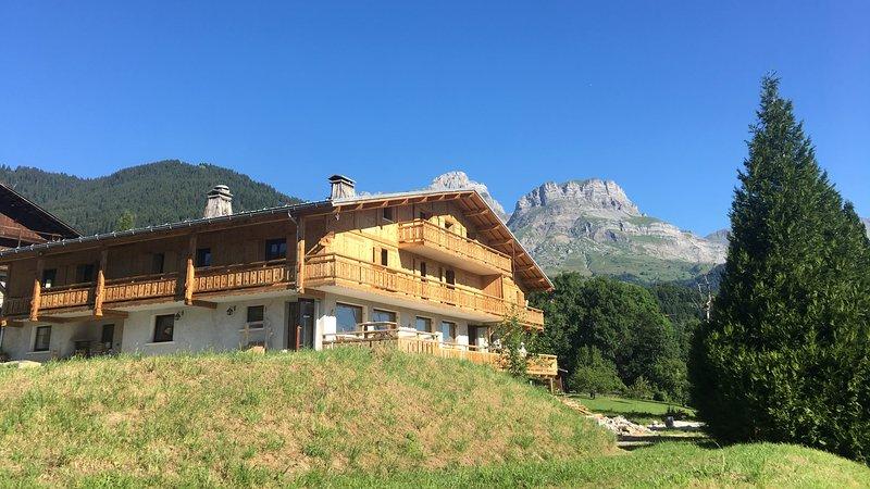 Chalet La Terrasse du Mont-Blanc, location de vacances à Cordon