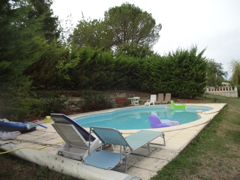 Beautiful apt with swimming-pool, location de vacances à Thézac