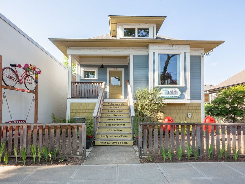 This large duplex is in the heart of Alberta St one of PDX's hippest places.