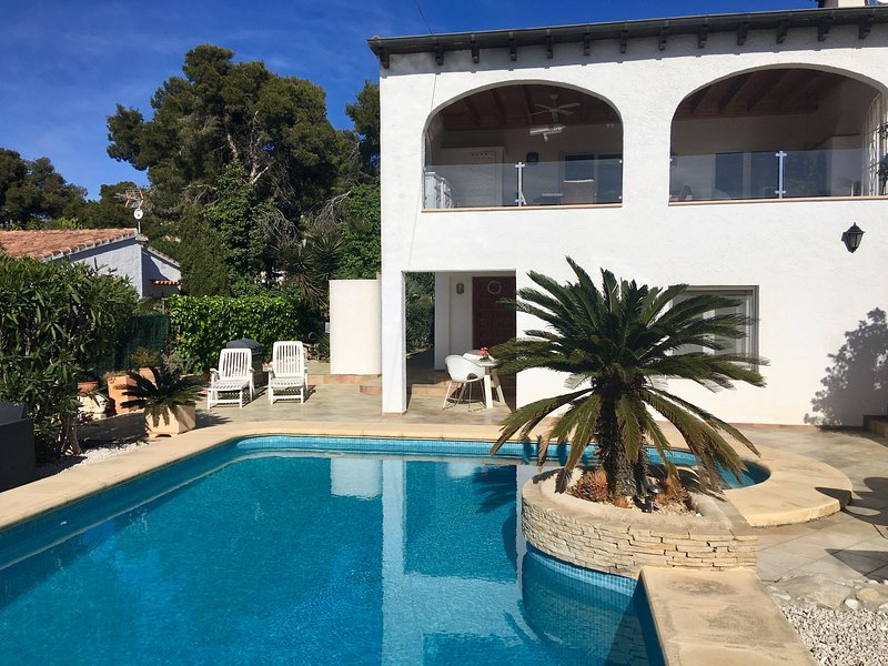 Your beautiful apartment is situated on the ground floor of our villa
