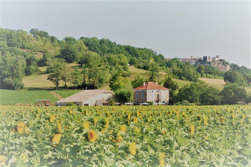 Gîtes Grand Pré e il villaggio collinare di Roquecor