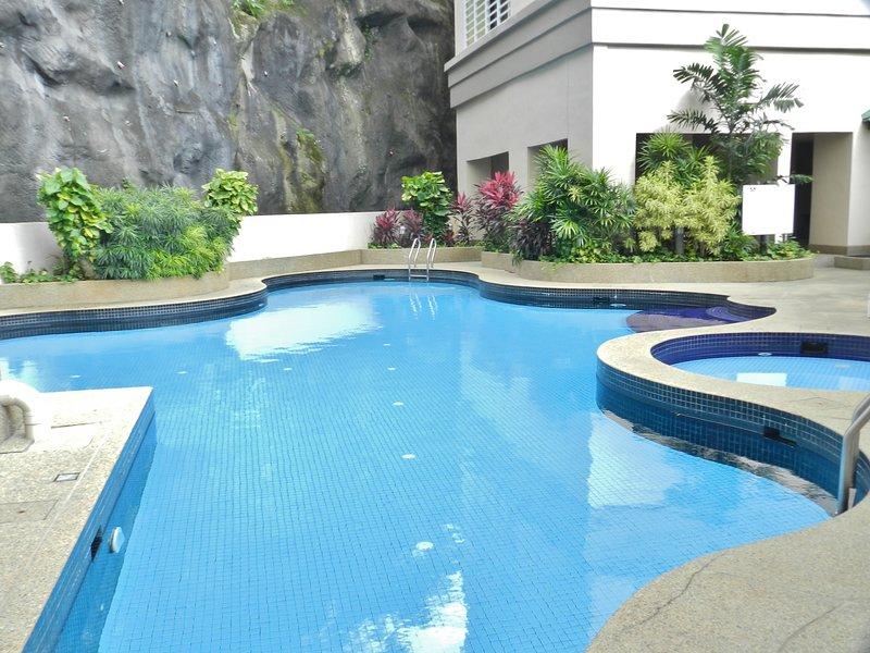 Smaller and quieter Pool between Miami Green buildings