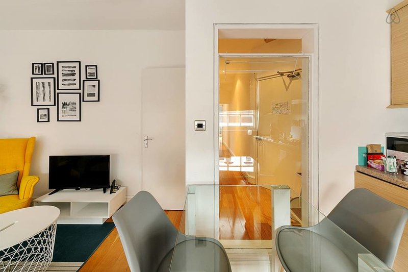The bright and modern living room.