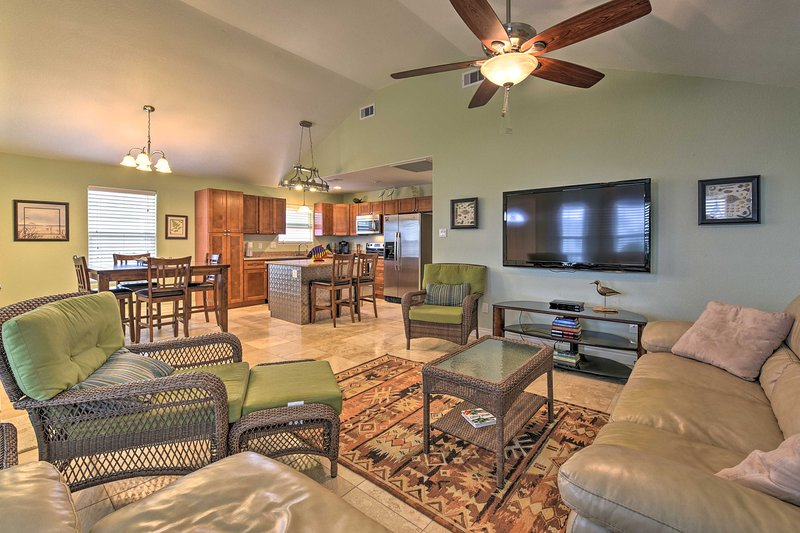Book a trip to this lavish 3-bedroom, 3-bathroom vacation rental home for 6.