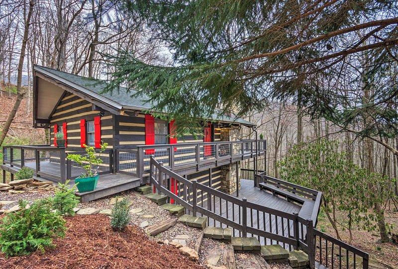 Pet-Friendly Cabin w/ Decks & Mountain Views!, casa vacanza a Fairview