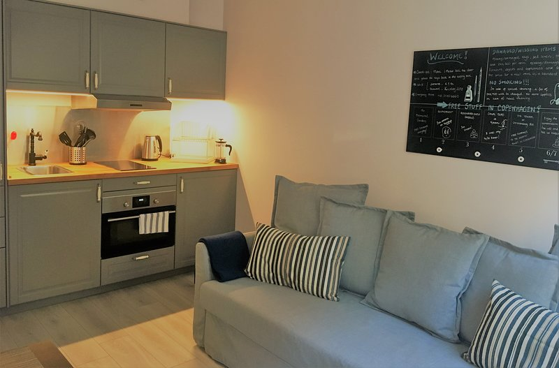 Cozy one bedroom apartment of 1st floor, Ferienwohnung in Roedovre Municipality
