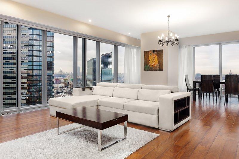 Apartment MoscowCity 28 Floor (2 спальные апартаменты на 30 этаже башня ОКО) – semesterbostad i Moskva