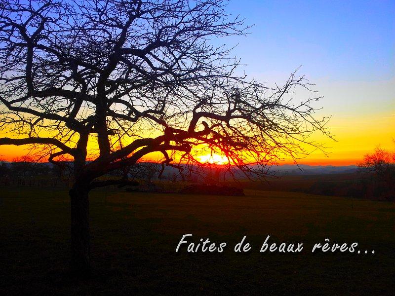 Sunset seen from the heights of ZUTZENDORF
