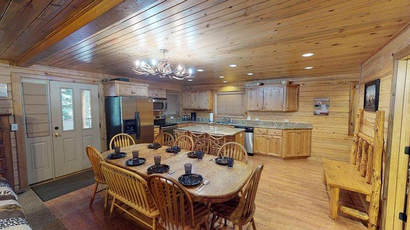 Cette cabine offre une table à manger pour se réunir et déguster votre repas préféré ensemble.
